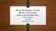 What Strategies to Use When Faced with Intercultural