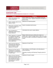 Introduction to Financial Statements Handout