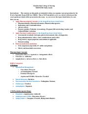 NR293 ESE Final Study Guide