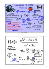derivativesandgraphsnotes2012