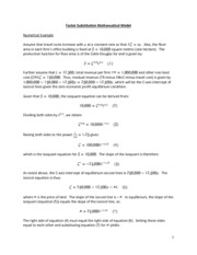 Factor Substitution Mathematical Model