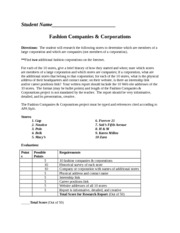Fashion Companies & Corporations spring 2014