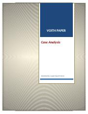 Voith Paper - Case Analysis, Joseph Faizal Pinheiro