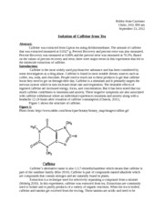 extraction of caffeine from tea lab report