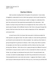 Danteessay Doc  Name Fdwld   Online October  Y Dantes   Pages Dante Essaydocx Examples Of A Thesis Statement In An Essay also Health And Social Care Essays  Business Communication Essay