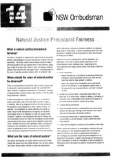 Natural Justice-Procedural Fairness