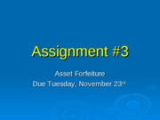Assignment _3 -- Asset forfeiture F10