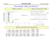 Chem 3000 -- Fall 2009 -- John Marohn -- Lecture 6 -- F test cont'd