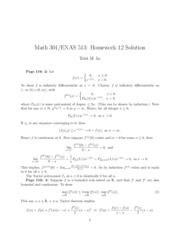 Math 301 Problem Set 12 Solutions
