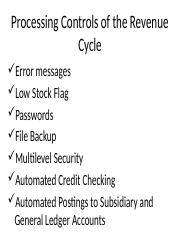 Processing-Controls-of-the-Revenue-Cycle