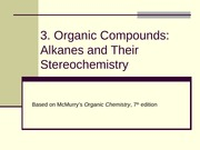 3. Alkanes and their Steriochemistry