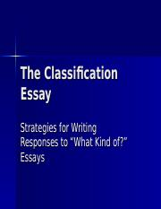Classification Essay.ppt