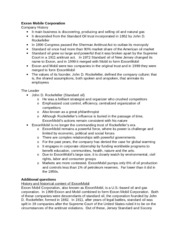 study on exxon mobil corporation management essay The desire to enhance its competitive in the industry the company's greatest merger between exxon and mobil was mainly targeted at the company's corporate strategy to compete in the energy industry need essay sample on exxon mobil corporation management and organizational behavior.