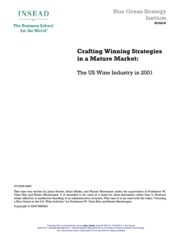 crafting winning strategies in the wine Crafting winning strategies in a mature market case study help, case study solution & analysis & crafting winning strategies in a mature market case solution introduction the us wine industry is facing immense competition which.
