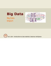 Big Data Clean Lecture