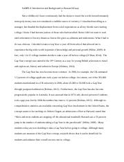 SAMPLE intro draft to research essay