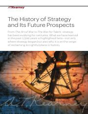 History of Strategy and Its Future Prospects