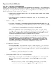 Globalization Midterm Study Guide- Reading Summaries
