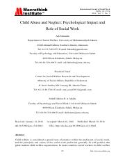 Psychological Impact and Role of Social Work.pdf