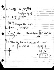 MAT 241 - Notes 10.4 Area and Arc Length