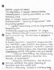 COM 100 Ch 1 Notes: Intro, SMR Model