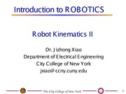 EE I5501 Lecture on Robot Kinetics (Part 1)