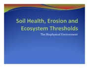 15 Soil Health and Ecosystems 2013