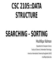 Lecture 05- Searching and Sorting.pptx