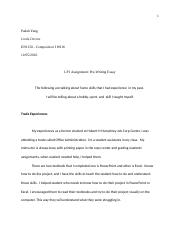 LP1 Assignment: Pre-writing Essay