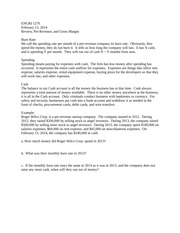 ENGRI 1270 Handout Feb 13 review and problems trimmed