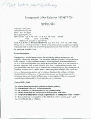 Labor Management Relations Guiler's Syllabus
