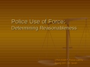 Police Use of Force- Determining Reasonableness