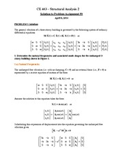 CE 463 Assignment 9 Solutions