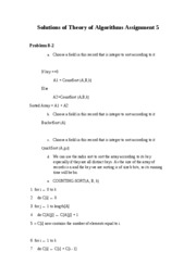 Solutions of Theory of Algorithms assignment 8-2