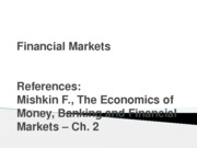 Finance1 - 02 - Financial Markets