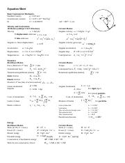 Phys 131 Equation Sheet.doc