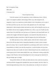 MDU 4004 Clinical Experience Essay