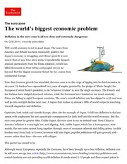 The euro zone_ The world's biggest economic problem _ The Economist