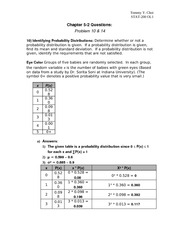 Chapter 5 Questions (STAT-200)