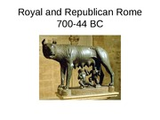 Royal and Republican Rome