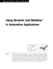 (eBook) Using Simulink and Stateflow in Automotive Applicati