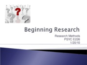 Beginning Research 1.20