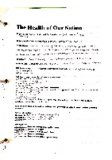 Health of our nation worksheet