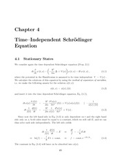 Time Independent Schrodening Equation