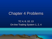 Chapter 4 TC & Cases