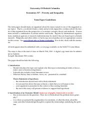 317 Term Paper Guidelines