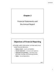 lecture 2 Financial Statements