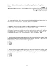 Chap012 Multinational Accounting Issues in Financial Reporting and Translation of
