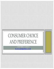 Consumer choice and preference 2017