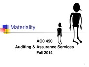 ACC 450 14 Materiality Fall 14